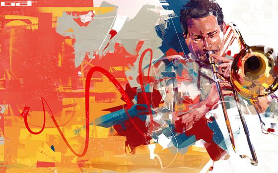 Pintura vetorial em ilustrações de Denis Gonchar