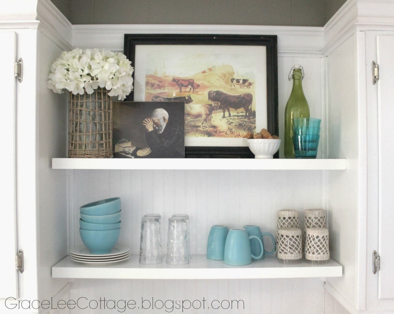 Grace Lee Cottage Kitchen Shelf Styling Winter Edition