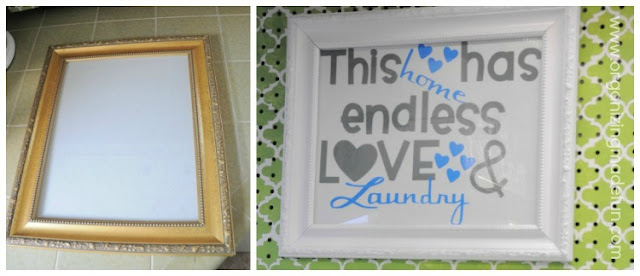 laundry pegboard frame printable 