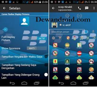BBM Mod BlackBerry BlueDark Apk 2.9.0.45