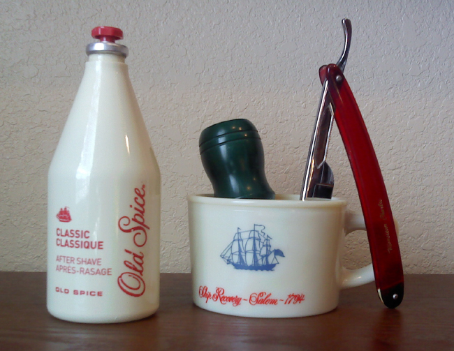 Old Spice - a distinguished aftershave for the discerning retro Male