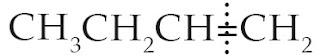 ikatan rangkap tidak membagi sama banyak atom C dan atom H, sehingga tidak simetris