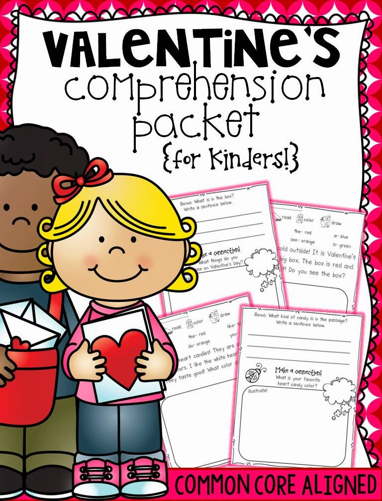 http://www.teacherspayteachers.com/Product/Valentines-Comprehension-for-Kinders-1073986