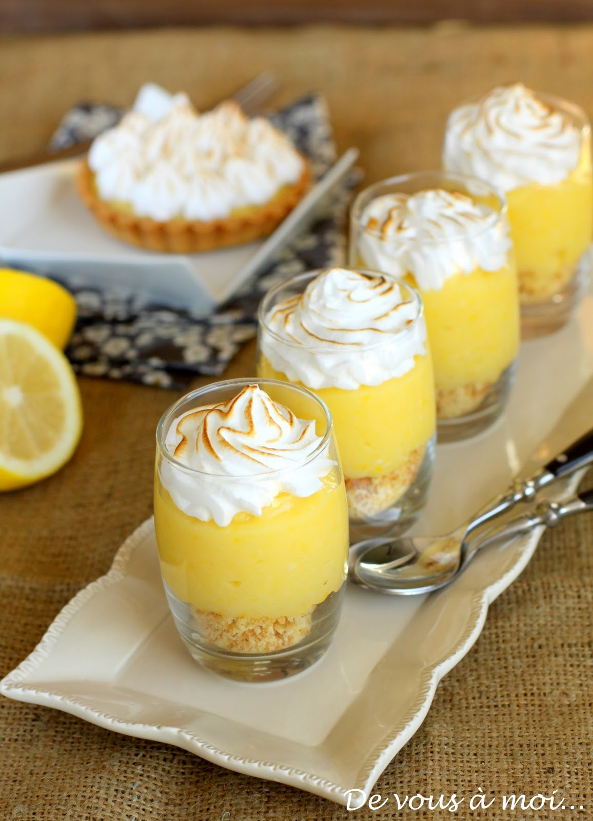 De vous moi tarte au citron meringu e revisit e - Recette tarte au citron sans meringue ...