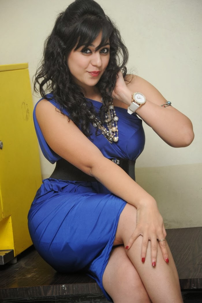 S Gallery In Blue Dress Images Actress Krithika Telugu