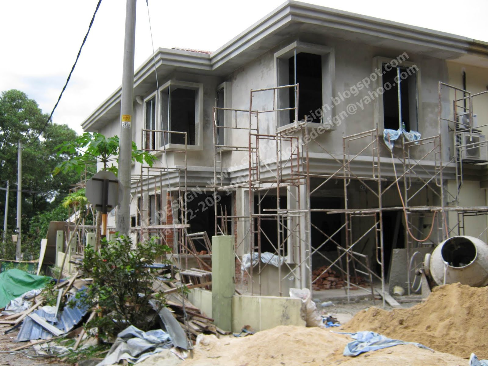 DOUBLE STOREY - CORNER HOUSE EXTENTION