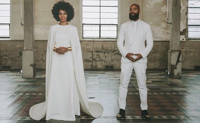 0ee467f5323 Solange Knowles  Custom Kenzo Wedding Gown