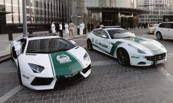 أغلى و أسرع أسطول في العالم سيارات شرطة دبي