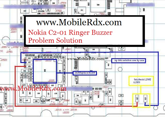 Nokia C2-01 Ringer Buzzer Problem Solution