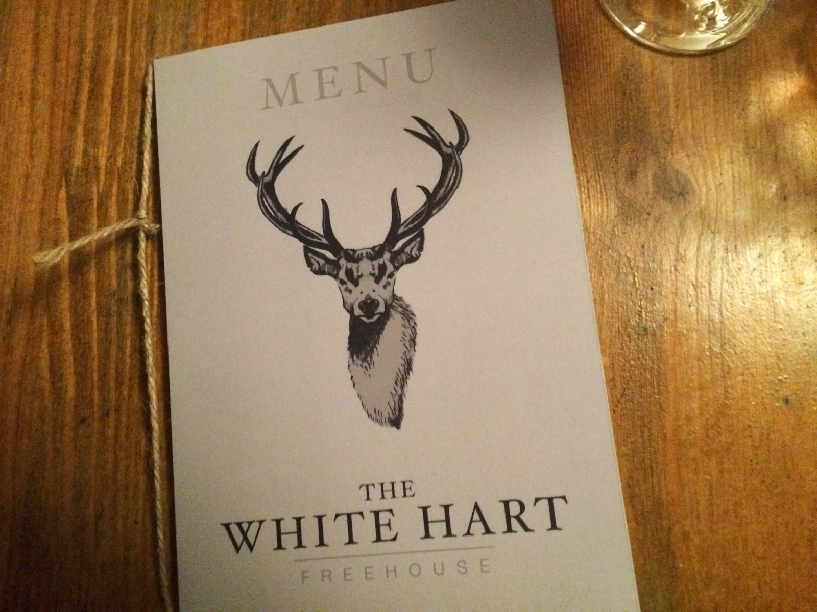 White Hart, Whelpley Hill - Menu
