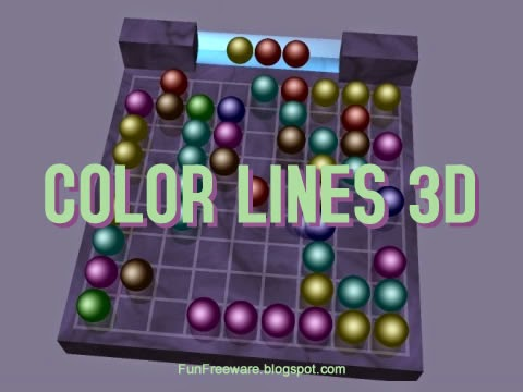 Color Lines 3D - Freeware Puzzle Game Splash Image