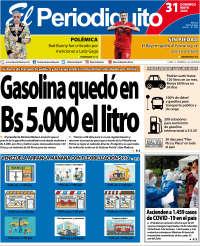 31/05/2020  PRIMERA PAGINA DIARIO DE VENEZUELA