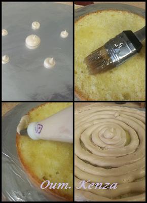 فن تزيين الكيك : طريقة حشو وتغطية الكيك بالكريمة بالصور