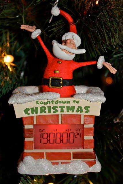 Countdown to christmas hallmark ornament