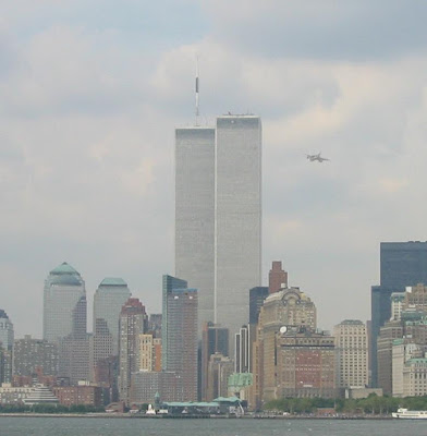 Camera conveniently in place for the first plane attack on Tower 1 (1 WTC), September 11 Attacks