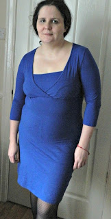 Mamalicious Feed Me Dress from More4Mums in Blue