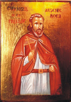 Sfantul Arsenie Boca, icoana pictata pe lemn