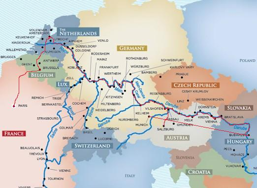 Danube River Map Of Europe.Pictures Of Rhine And Danube River Map Kidskunst Info