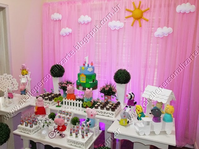 Decoração de festa infantil Peppa Pig