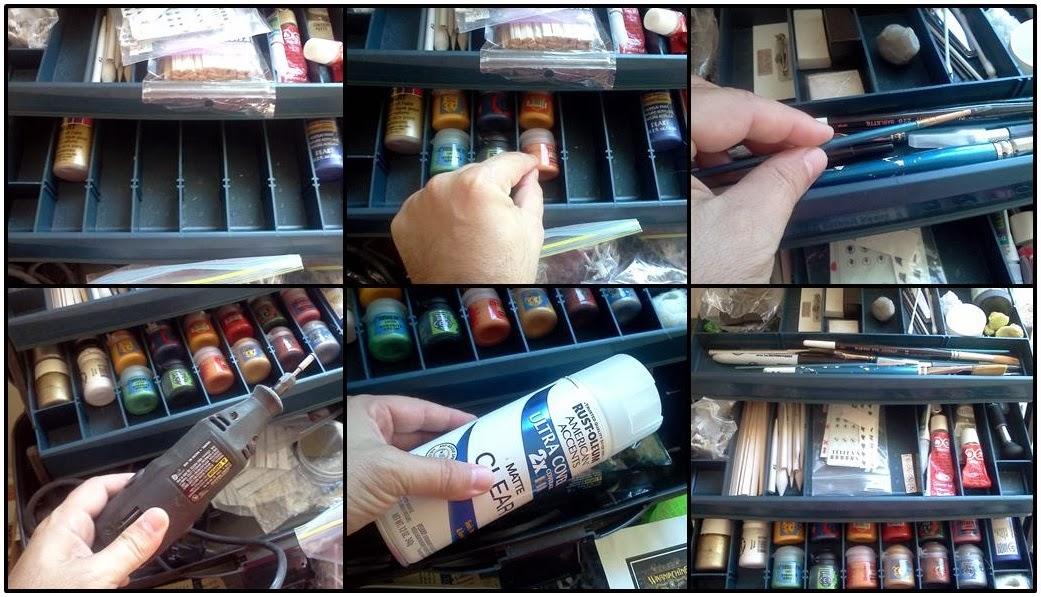 lou rollins miniatures portable paint