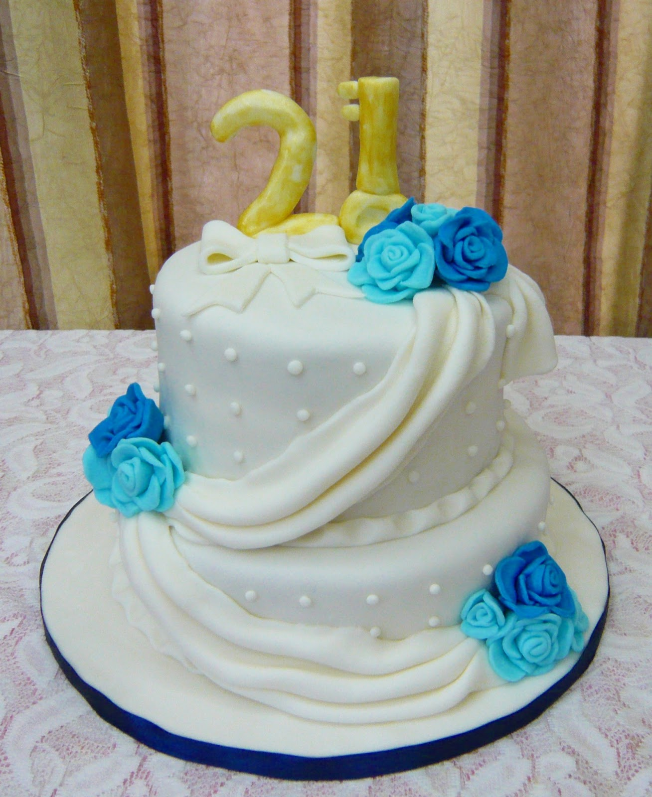 Jenn Cupcakes Muffins 2 Tier 21st Birthday Cake