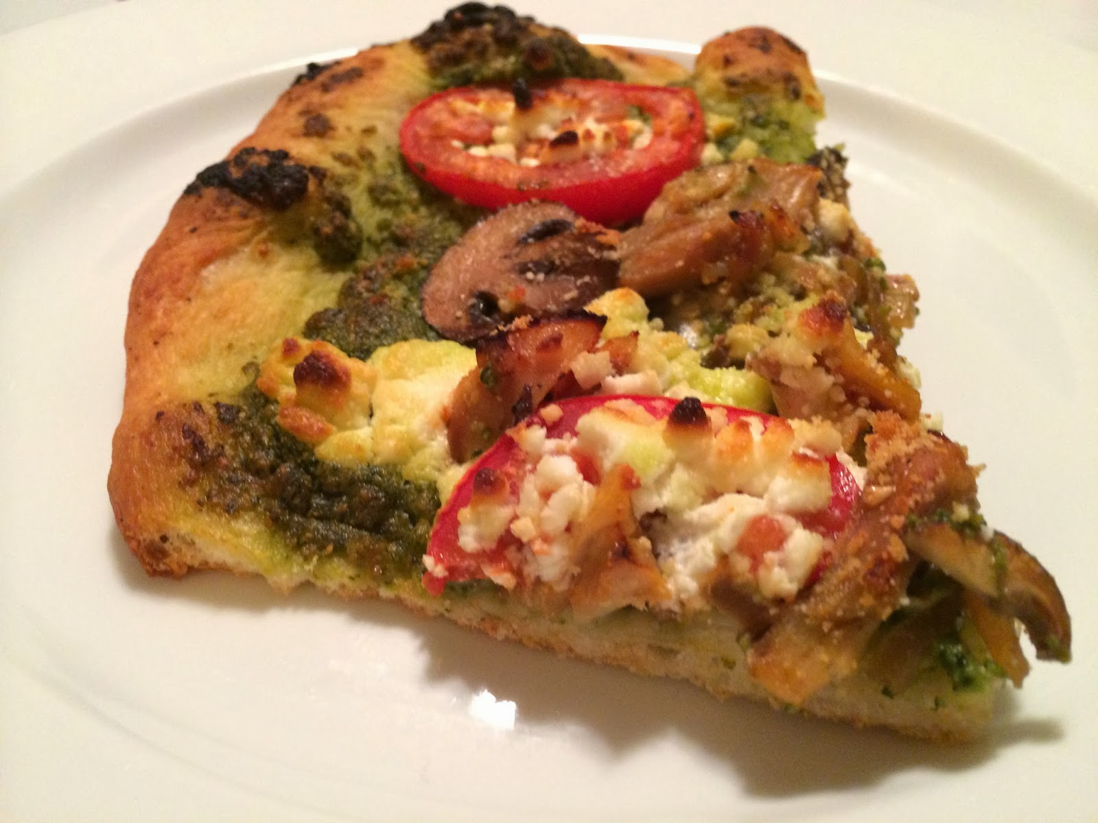 Pesto, Chicken and Goat Cheese Pizza