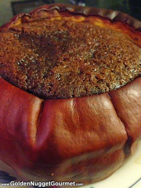 Carlty Bryer's Wicked Good Gingerbread Cake Baked in a Pumpkin