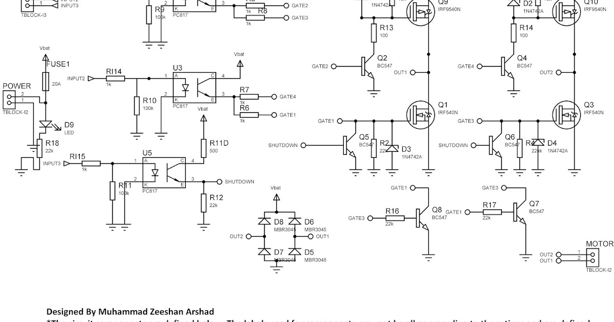 high power hbridge circuit with mosfet design and robust performance rh 1ooielab blogspot com