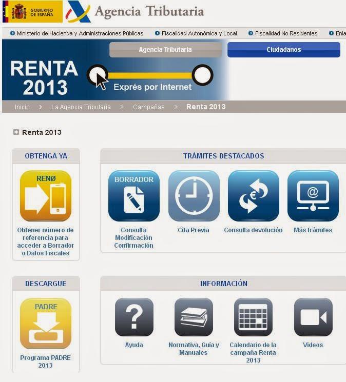 http://www.agenciatributaria.es/AEAT.internet/Renta2013.shtml