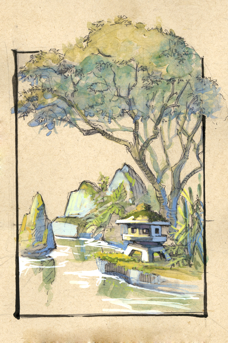 Location Drawing Japanese Gardens