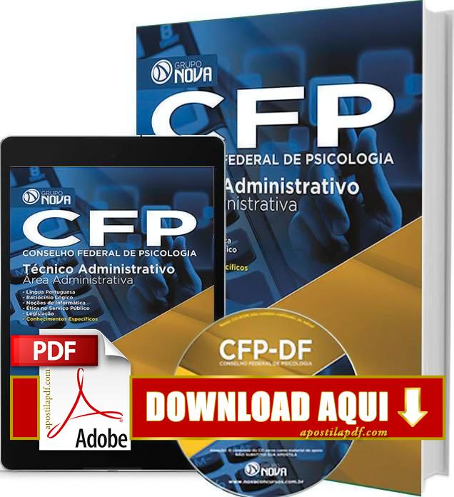 Apostila CFP DF 2015 Técnico Administrativo Impressa PDF Download Grátis