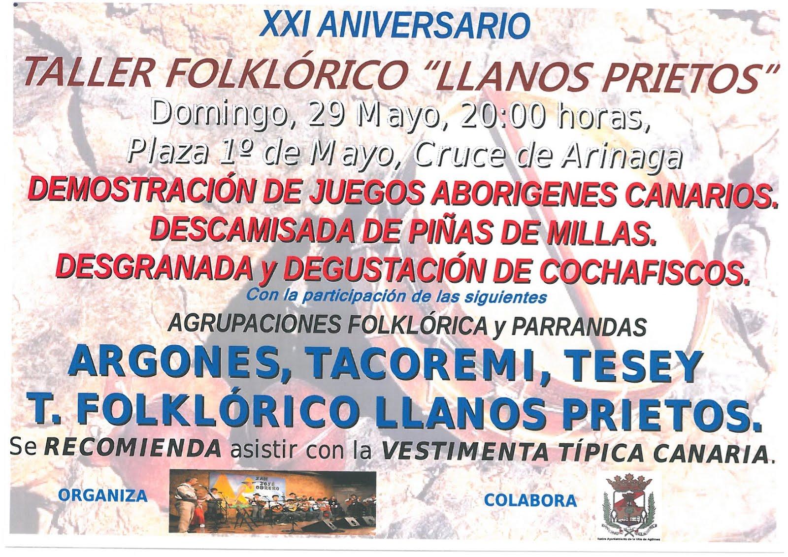 XXI aniversario T.F. Llanos Prietos