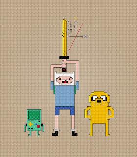 Adventure Time - Algebraic - Cross Stitch PDF Pattern Download