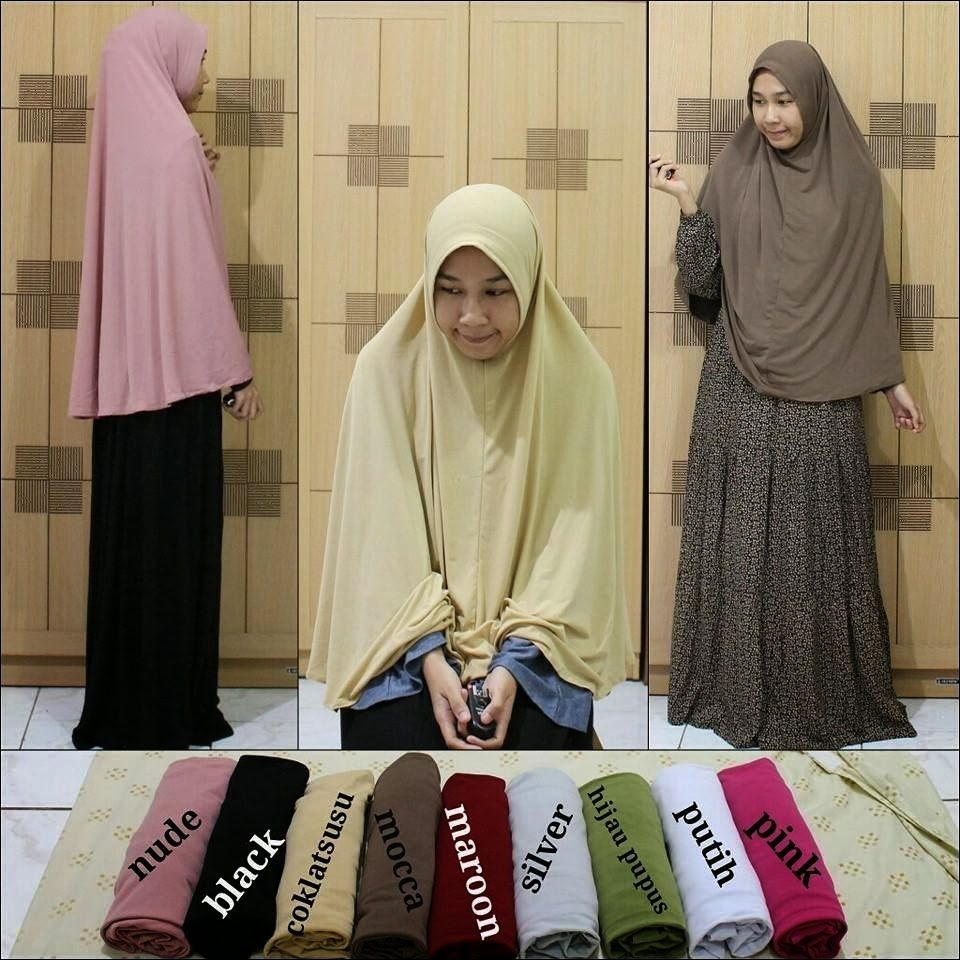 Saffa Hijab Modis Online Shop Syari Bergo Jilbab Instan Jumbo Rempel Polos