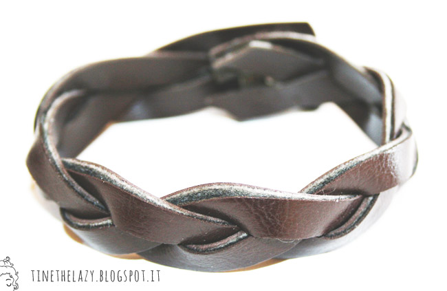 diy faux leather bracelets from an old belt