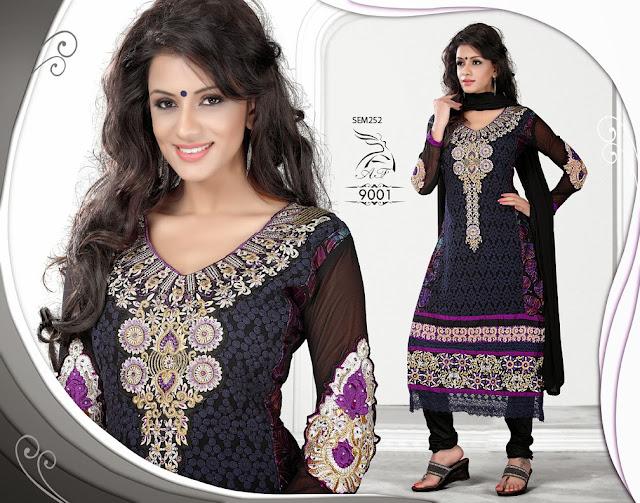 Designer Embroidered Karchi Style Salwar Kameez