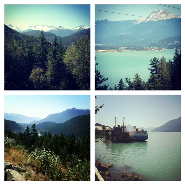 Scenery along sea to sky highway, beautiful british columbia, whistler, squamish, moutain and water, britannia mines, old boats, breathtaking, views