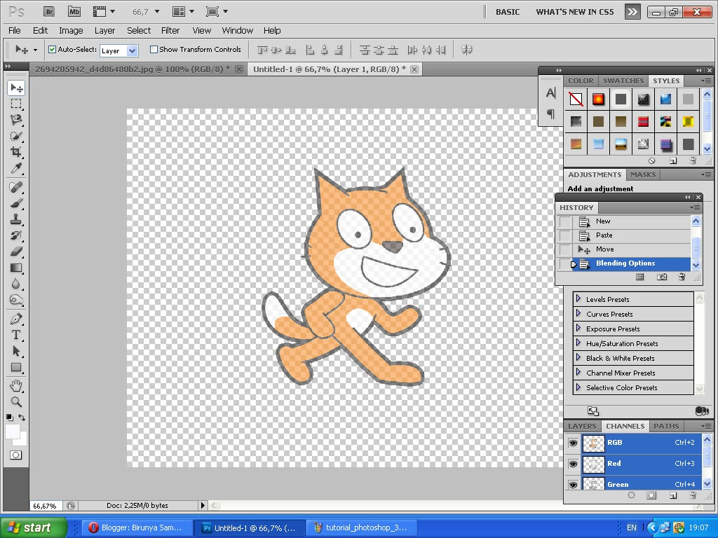Birunya Samudra: Belajar Adobe Photoshop (Part 2