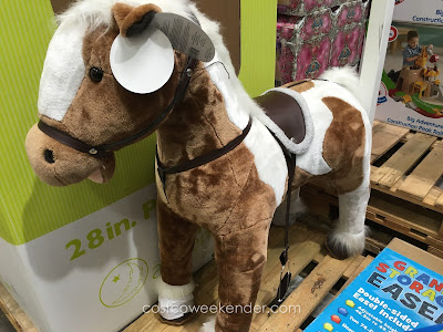 Engage your child's imagination with the 39 inch Giant Horse with Sounds