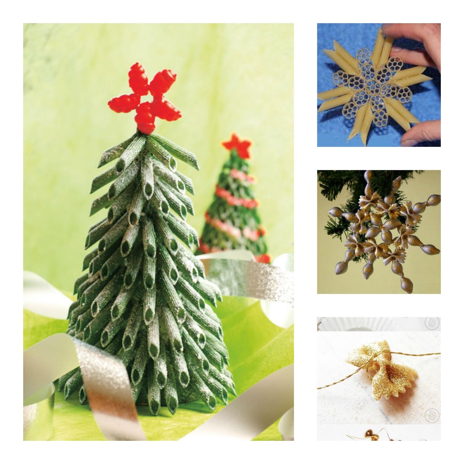 Addobbi di natale fai da te con la pasta donneinpink - Creare decorazioni natalizie ...