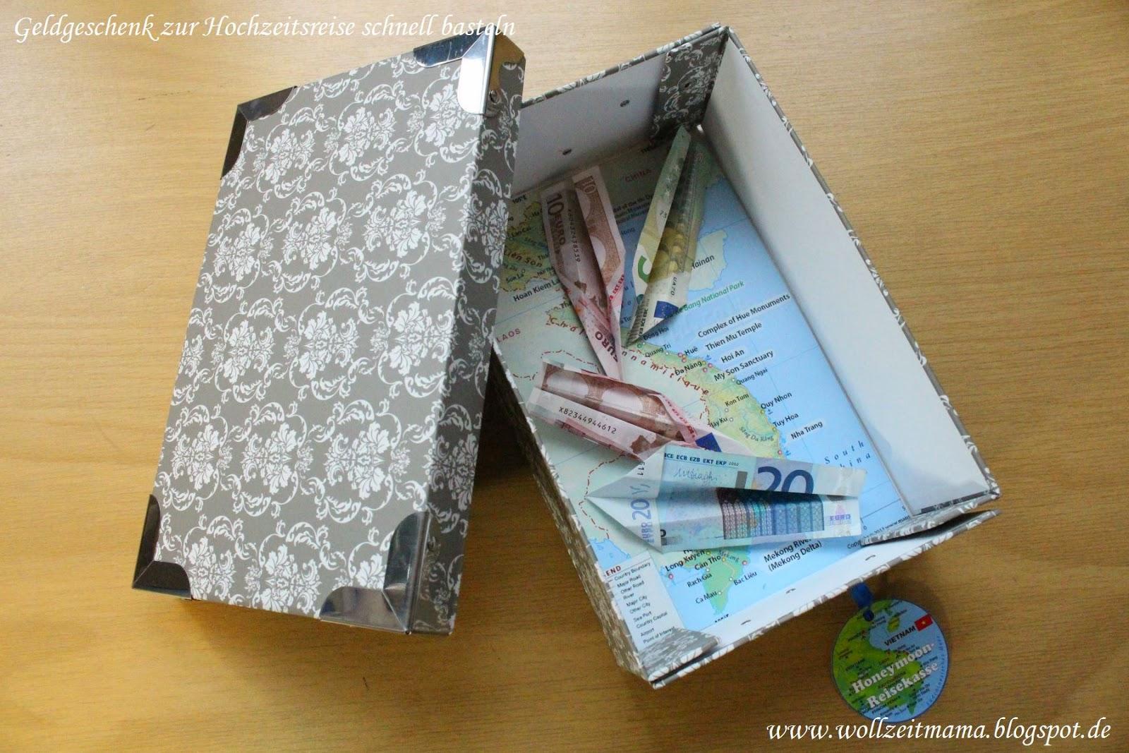 Geldgeschenk für Reise, Geburtstag oder Hochzeit schnell selbst gebastelt