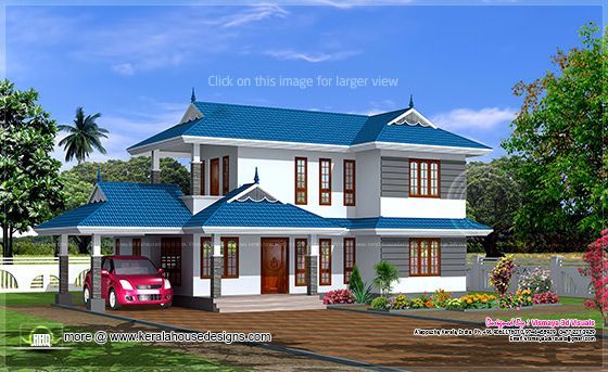 June 2013 kerala home design and floor plans for Sloped roof house plans in india