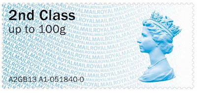 Post and Go Faststamp 2nd class depicting Machin head.