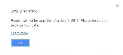 Google Reader Death Reminder