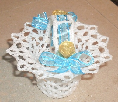 Anchelle Crochet Wedding Favor Baskets For Faith