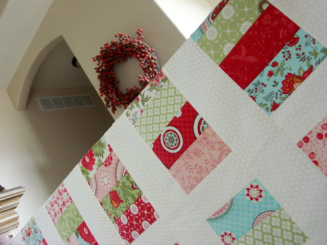strawberry shortcake quilt, bliss quilt, stacked coins quilt