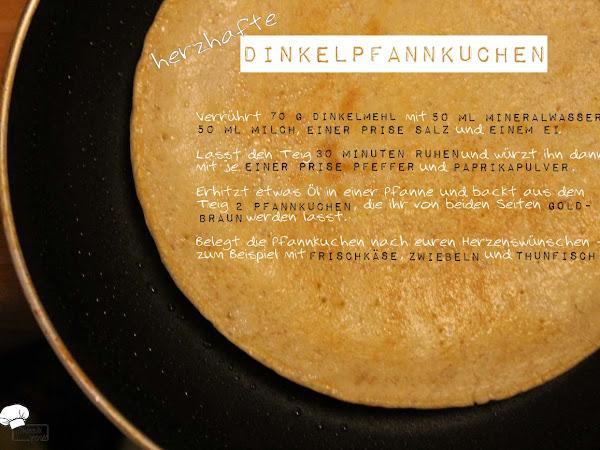 Herzhafte Dinkelpfannkuchen
