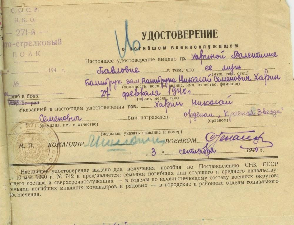 Списки Участников Советско Финской Войны