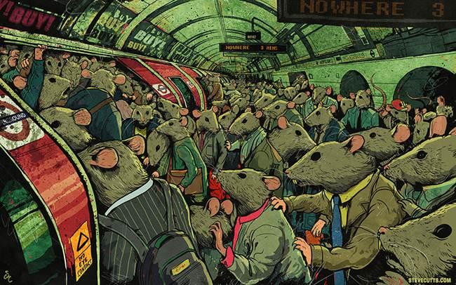 soareci ingramaditi la metrou