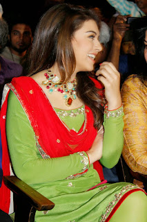 Actress Hansika Motwani Pictures in Salwar Kameez at Maan Karate Audio Launch  129